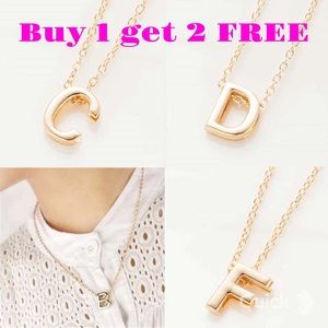 Jewelry - DIY letter B initial name gold color necklace